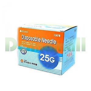 [씨피엘]일회용주사침(Disposable Needle) 25G (1-1/2인치)